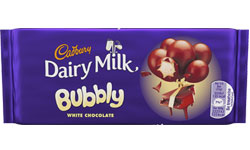 Bubbly White Chocolate centre