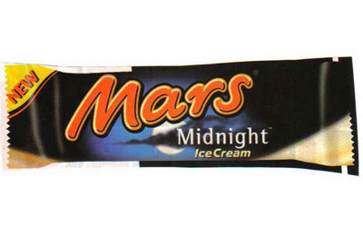 Mars Midnight Ice Cream bars