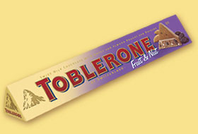 TOBLERONE FRUIT and NUT CHOCOLATE