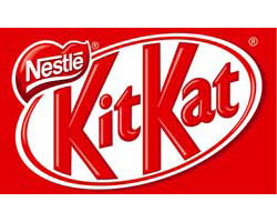 kitkat chocolate official logo of the company