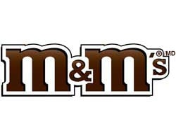 m&m chocolate official logo of the company