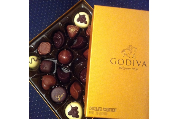 Godiva belgian chocolate golden box 24