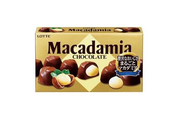 lotte macadamia chocolate brand