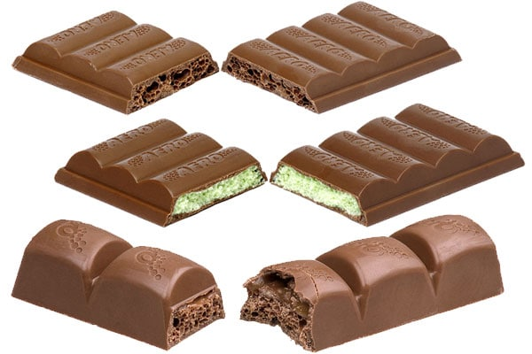 Aero chocolate bars list