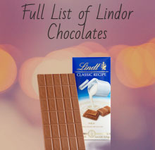 Full List of Lindor Chocolates