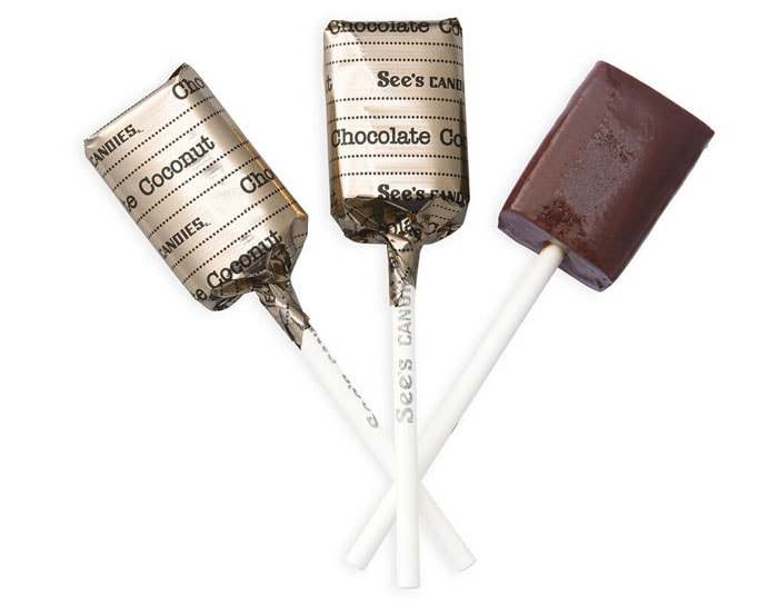 Chocolate Coconut Lollypops