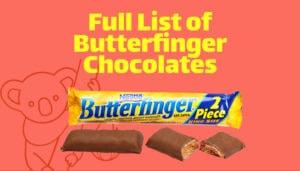 Full List of Butterfinger Chocolates