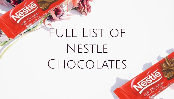 Full List of Nestle Chocolates