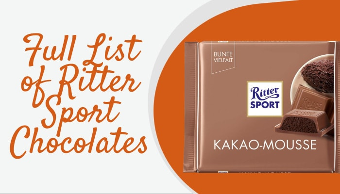 Full List of Ritter Sport Chocolates