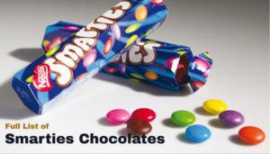 Full List of Smarties Chocolates