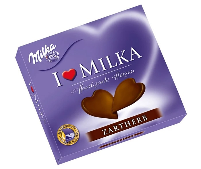 Milka I Love Milka - Tenderly Dark Chocolate Hearts