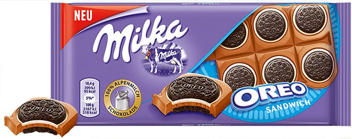Milka Oreo Sandwich Chocolate Bar