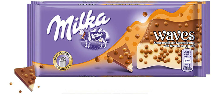 Milka Waves - Caramel Crisp-Pearls (81g)