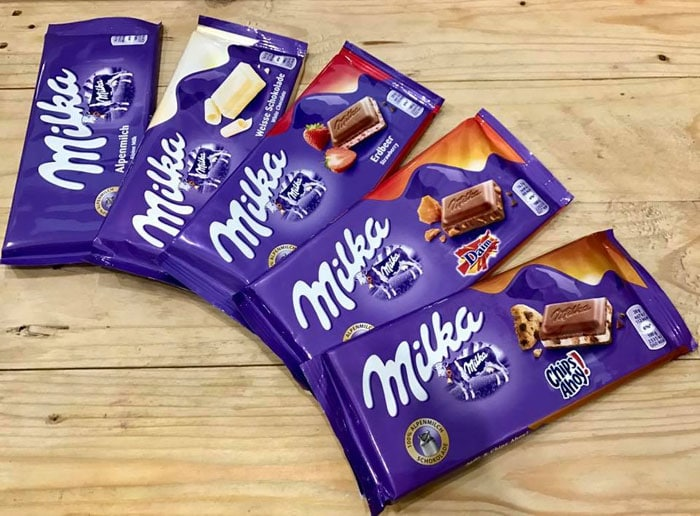 milka tablet variants