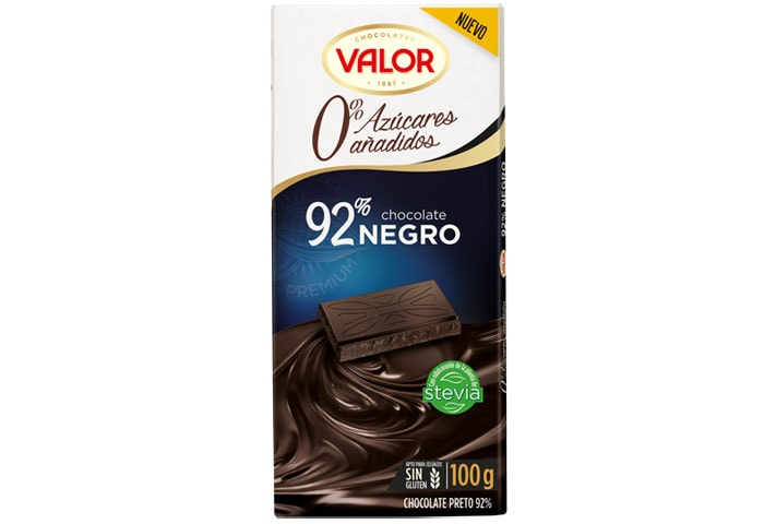 Dark Chocolate 92% 0% Sugar Added