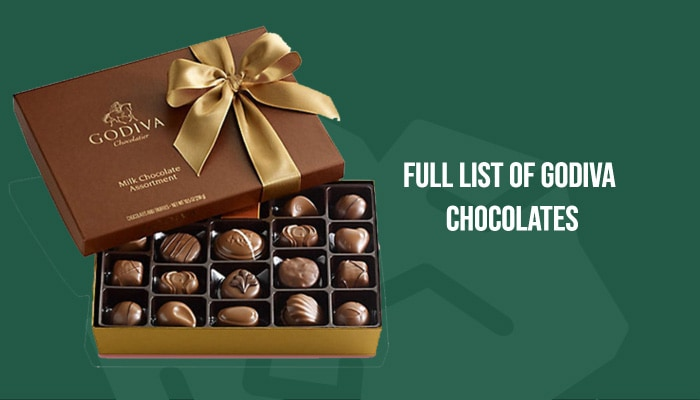 Full List of Godiva Chocolates