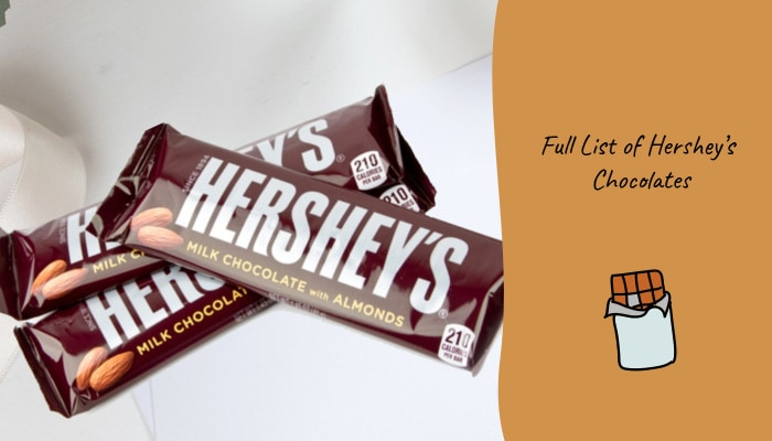 Full List of Hershey's Chocolates
