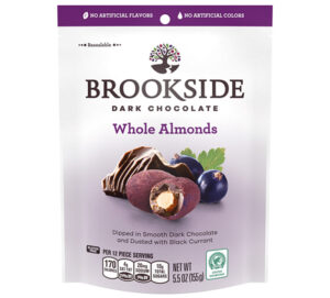 Brookside Dark Chocolate Whole Almonds Dusted with Black Currant