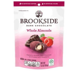 Brookside Dark Chocolates Whole Almonds Dusted with Raspberry
