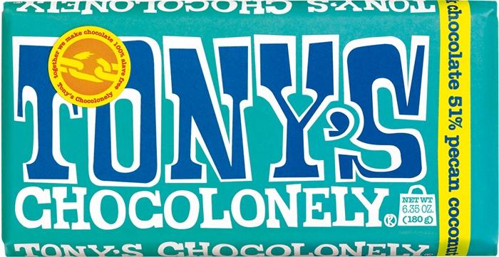 Tony's Chocolonely Dark Pecan Coconut