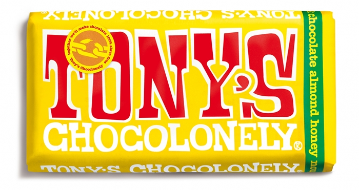 Tony's Chocolonely Milk Chocolate Almond Honey Nougat