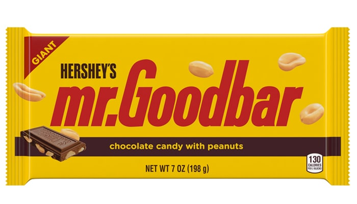 HERSHEY'S MR. GOODBAR Milk Chocolate with Peanuts Giant Candy Bar