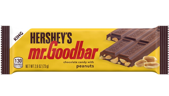 HERSHEY'S MR. GOODBAR Milk Chocolate w/ Peanuts King Size Candy Bar