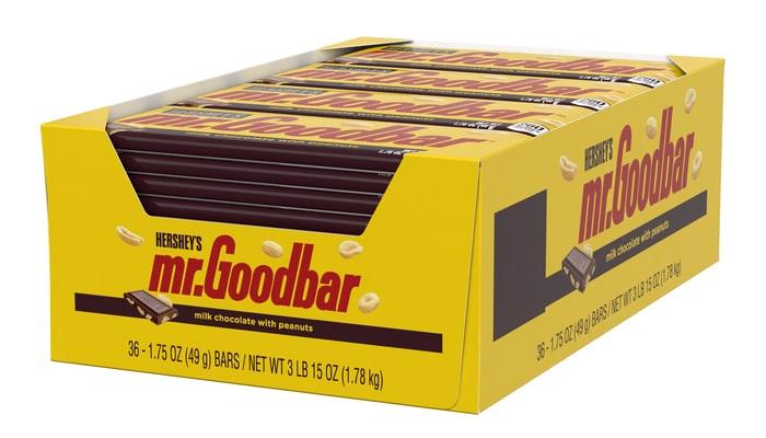 HERSHEY'S MR. GOODBAR Standard Bar [36-Pack (36 x 1.75 oz. bar)]
